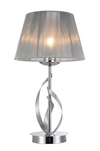 Interfan tafellamp strik ii, klassiek, met lampenkap, chroom, 25 x 46 cm
