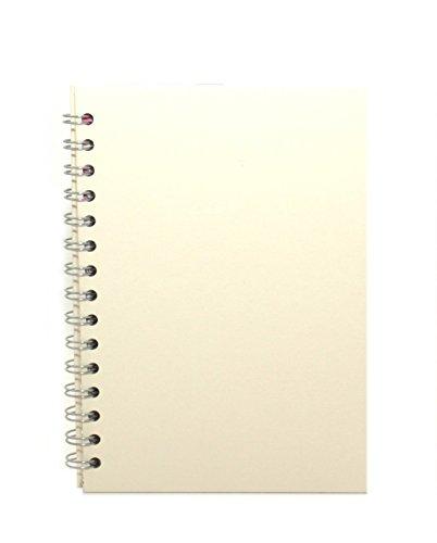 Pink Pig Posh Eco Pig Skizzenbuch, umweltfreundlich, A5, Hochformat, Papierfarbe Weiß, Einbandfarbe elfenbeinfarben