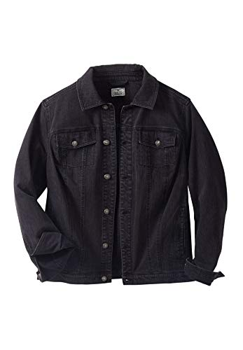Liberty Blues Men's Big & Tall Denim Jacket - Big - 4XL, Black Denim