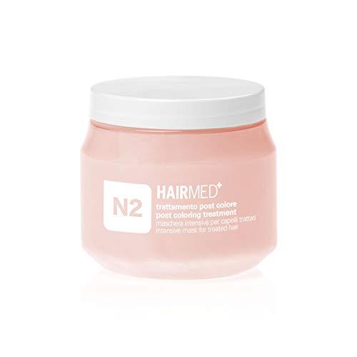 HAIRMED - N2 Maschera Nutriente Capelli Professionale - Maschera Ristrutturante Capelli Secchi Colorati - Post Colore - 250 ml
