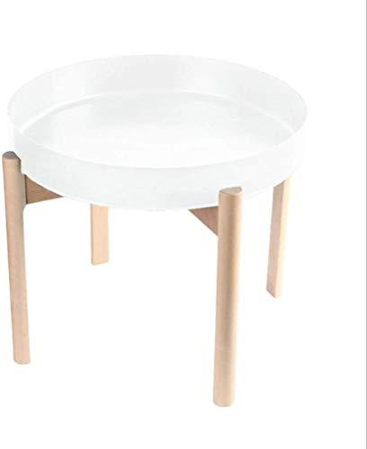 Hermosamente Mesilla Tabla Final Mesas laterales tabla lateral té pequeña mesa metal moderno de la mesa de centro, Ronda bandeja del escritorio, escandinava de madera redonda Mesa lado del extremo de