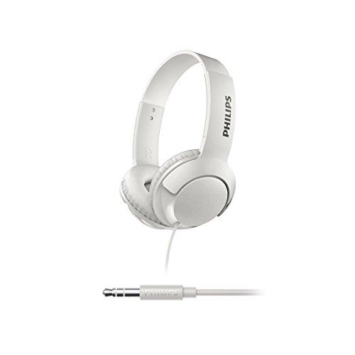 Philips SHL3070WT BASS+ On-Ear Kopfhörer (satter Sound, starker Bass) weiß