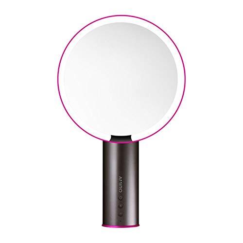 Selfie Luz del anillo, soporte ajustable luz de relleno Maquillaje sensor inteligente encendido LED del espejo de la vanidad 1 Youpin cosméticos de maquillaje Espejo (Color : Hot Pink)