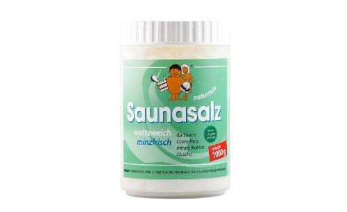 Saunabedarf Schneider - Saunasalz watteweich, Salinensalz Minzfrisch, für Sauna, Dampfbad, Infrarotkabine, Dusche 300g