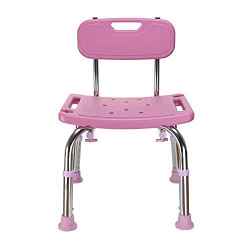 ZfgG Médico Baño Taburete Ancianos Embarentes Discapacitados Caja Fuerte Anti-Caída Bañera Bañera Ducha Silla Camping Banco Asiento Otomano (Color : Chair Pink)