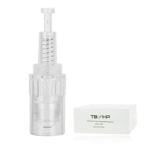 TBPHP 3D Nano Nadelpatrone für Auto Electric Microneedle Derma Pen, Einstellbar Gewinde-Schlitz Für Auto Electric Derma Stempel(10 Stück Needle Cartridge)
