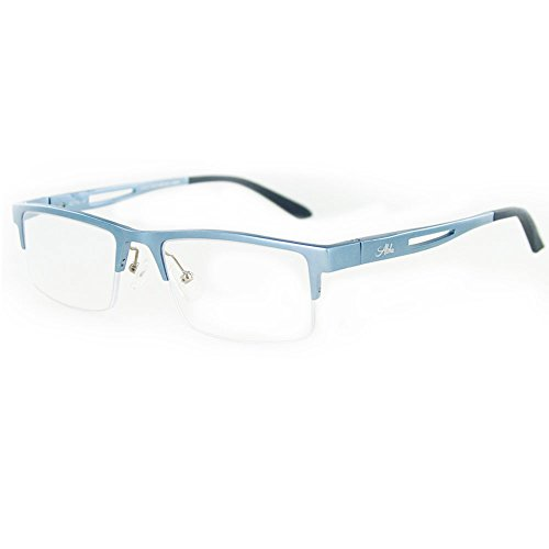 Alumni Optical Quality Reading Glasses with Aluminum Frames for Youthful and Active Men and Women (Blue +1.50)
