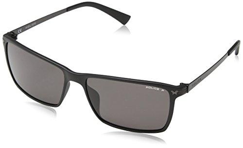 Police Herren S1957 Sonnenbrille, Grau (SEMI-MATT Black), Einheitsgröße