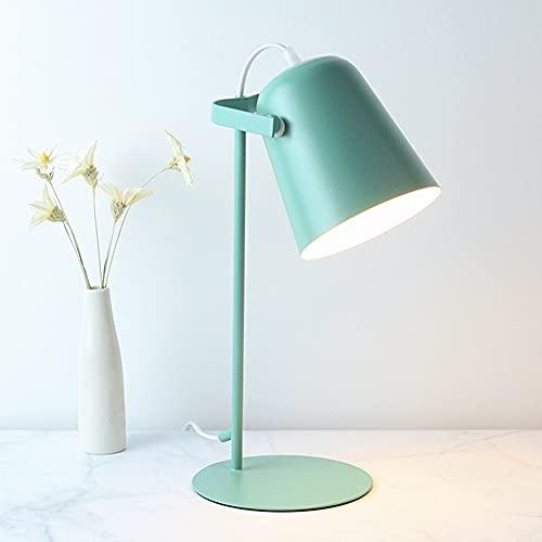 DIRIGIÓ Lámpara de escritorio para lectura 3 colores iluminación protección de ojo de oficina Lámpara de lectura para dormitorio junto a la cama UE Enchufe DIRIGIÓ Lámpara de escritorio