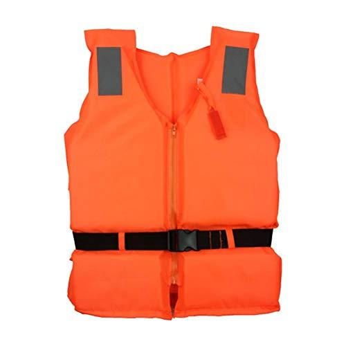 Eeneme Chaleco Salvavidas Adulto,Chaquetas y Chalecos Salvavidas para Barcos,Ajustable Unisex Chaleco de Flotación Inflable Portátil, Unisex Adulto, Naranja, Universal (Color-A)