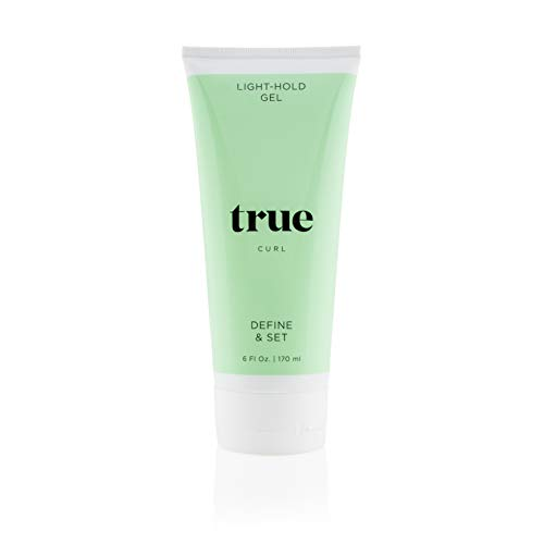 True Curl Light Hold Defining Hair Gel. Vegan, Cruelty Free, Style and Control for Frizz-Free Wavy, Curly Hair. Silicone, Sulfate and Paraben-Free, 6 Fl Oz.