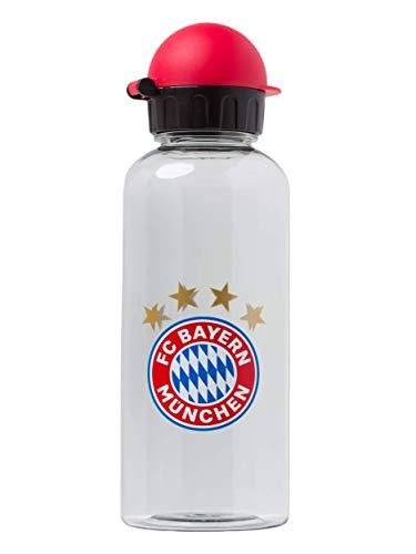 FC Bayern München Trinkflasche transparent, Füllmenge 0,6 Liter