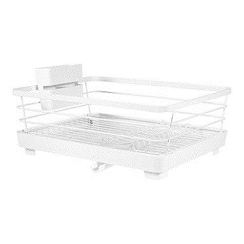 Escurreplatos Compacto de Alta Gama y Blanca clásica portátil Fácil de Almacenamiento Moderno for el Mueble de Cocina Secado de Platos (Color : White, Size : 37.5x38.5x14.6cm)