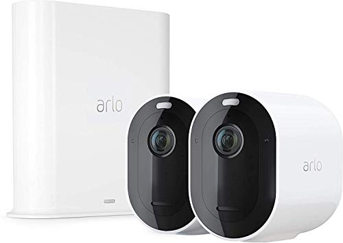 Arlo Pro3 Smart Home Security Camera CCTV system | Wireless, 6-Month Battery Life, Colour Night Vision, Indoor or Outdoor, 2K HDR, 2-Way Audio, Spotlight, 160° View, Alarm, 2 Camera Kit, VMS4240P