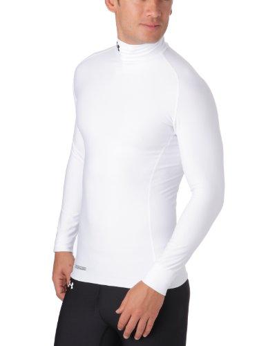 Under Armour ColdGear Compression Evo Mock Première couche manches longues-col montant-pour se protéger du froid homme Blanc XL