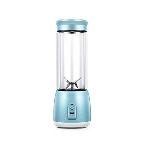 Tragbare Entsafter Mini Juicer Cup Persönliche Kleine Mixer Elektrische Saftmischer USB Wiederaufladbare Babynahrung Zitruspressen Reise Flasche Maschine Sport Student,Blue