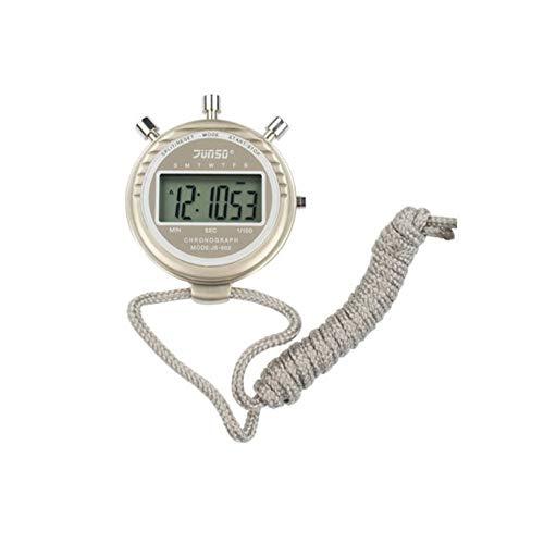 HENGXIANG Stopwatch, groot scherm groot lettertype sport stopwatch timer, enkele rij timer (beige, 75 x 61,5 x 15. 5 mm