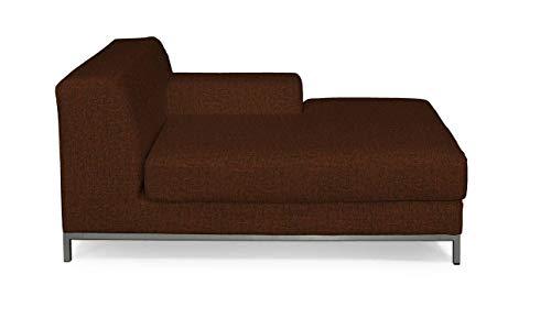 Dekoria Kramfors Recamiere rechts Sofabezug Sofahusse passend für IKEA Modell Kramfors orange-schwarz