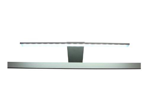 trendteam Badspiegelschrank Aufsatzleuchte Leuchte Badaufsatzleuchte, 37 x 18 x 13 cm in Weiß-Kalt mit Schalter und Steckedosenbox