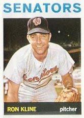 1964 Topps Regular (Baseball) Card# 358 Ron Kline of the Washington Senators Ex Condition