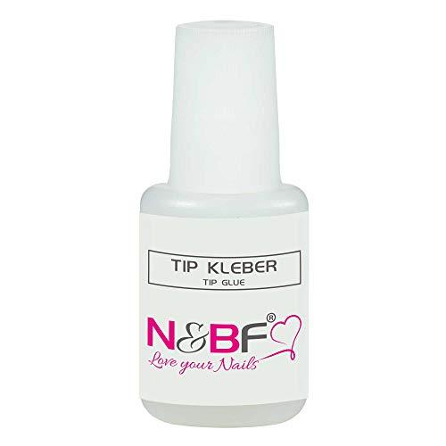 Nick & Ben Colle pour faux ongles 9 g extra forte | Colle à ongles dans un flacon pinceau pratique transparent | Séchage rapide et extrêmement durable | Pour extension professionnelle des ongles