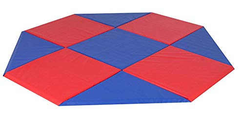 Review Childrens Factory Modular Mats, Blue & Red, 9 x 9
