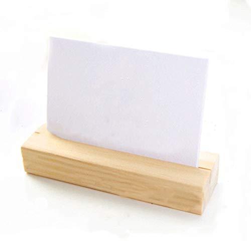 JIEIIFAFH Hohe Qualität Natural Wood Foto-Halter Memo-Clips Visitenkartenhalter Schellen Ständer Hinweis Ordner Karte Desktop-Nachricht aus Holz Nachrichtenordner (Color : M(7X2.7X1.8cm))