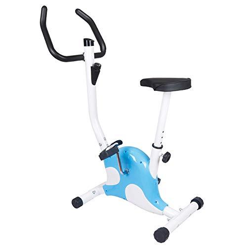 J&Y Bicicleta estática de ciclismo de interior, volante de inercia de 6 kg, para el hogar cardiovascular, gimnasio con cojín cómodo de asiento, color rosa