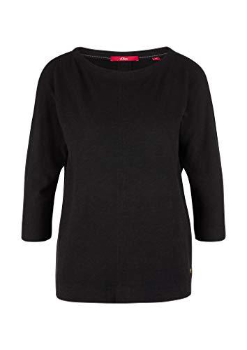 s.Oliver Damen T-Shirt 3/4 Arm black 44