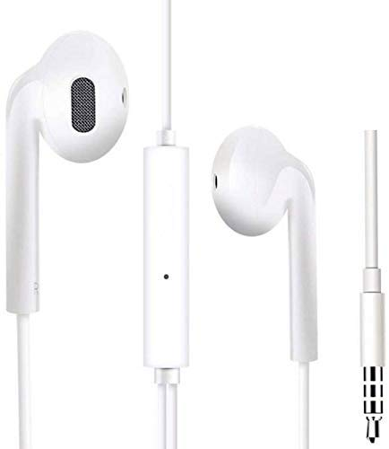 Shop77 Headphones with Mic for iPhone, Apple, iPhone 4/4s/5/5s/6/6s iPad with 3.5mm Jack(White)