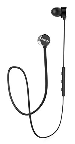 Philips Audio UpBeat TAUN102BK Bluetooth 5.0 Earbuds with 7Hrs Playtime, IPX4 Splash-Proof Design, Magnetic Eartips, Quick Charge and Built-in Mic (Black)
