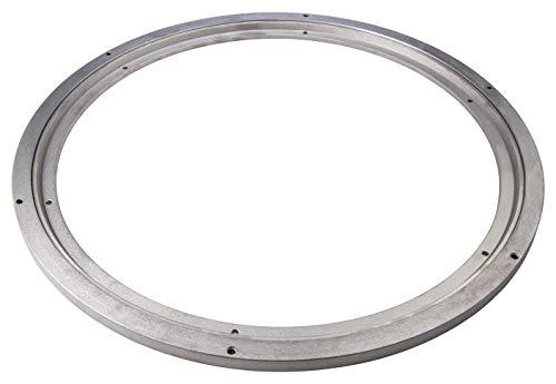 Gedotec draaiglas voor zware belasting, 360 graden draaibaar, Ø 320 mm, draaiplateau staal zilver, drukkogellager, draagkracht 300 kg, draairing voor het schroeven van meubels, tv's enz. | 1 stuk - draaikrans keuken modern Ø - 450 mm staal, mat zilver.