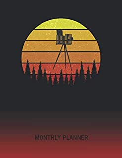 Monthly Planner: Old Camera | 2 Year Planning for Jan 2020 to Dec 2021 | Retro Vintage Sunset Cover | January 20 - December 21 | Planning Organizer Writing Notebook | Productive Datebook Calendar Schedule | Plan Days, Set Goals & Get Stuff Done