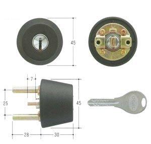 GOAL(ゴール) V18シリンダー TXタイプ 鍵 交換 取替え テール刻印28 GCY-253 TX/TDDブラック色28〜31mm(テール刻印28)