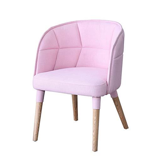 Sillón Butaca Nordic Hotel Muebles DE Alta Final DE End Paquete Soft Paquetes Silla DE REUNIÓN DE LA Oficina DE LA Oficina para el Club de Dormitorio (Color : Pink, Size : 60x52x80cm)