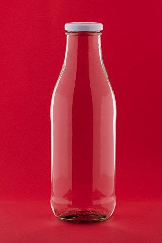 8 Leere Glasflaschen 1000ml Milchflaschen Saftflaschen Flaschen Vintage Style von slkfactory