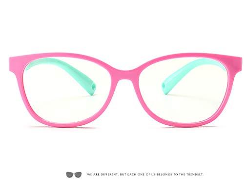Anti-Straling Bril, Platte Spiegel Voor Kinderen Anti-Bijziendheid Leesbril Voor Computer Met Blauw Anti-Licht Bril Voor Kinderen 3-12 Jaar Groen
