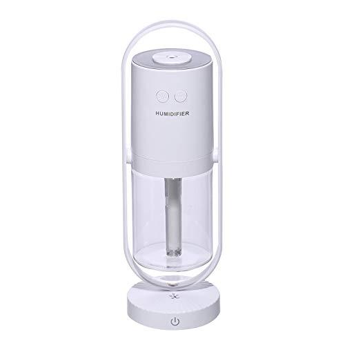 Humidificadores Difusor Aceites Esenciales Humidificador De 200 Ml, Lámpara De Proyector De Aerosol De Niebla De 360 Grados, Difusor De Aroma Ultrasónico Cool Mist Maker, Humidificador USB Blan