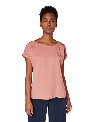 TOM TAILOR Damen Lockere Bluse, Rosa (Vintage Rose 10879), (Herstellergröße: 36)