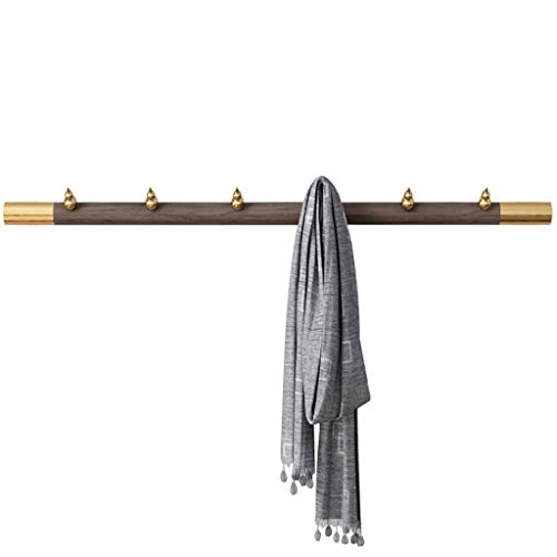 OMING Percheros de Pared Capa montada en la Pared Rack Hook Dormitorio Abrigo Creativo Capa montada en la Pared Rack Hanger Longitud 31.4 Pulgadas (6 Ganchos) Carril de Gancho Moderno