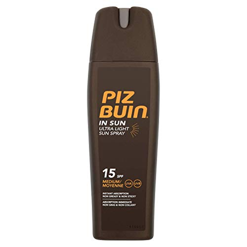 2 x Piz Buin In Sun Ultra Light Sun Spray SPF15-200ml
