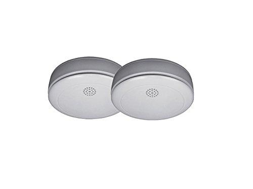 2er-Set Rauchmelder mit 10 Jahres Lithium Batterie, 85db Alarm, VDS, RM218-2