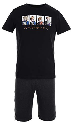 Suncity Pijama de Verano Adulto Negro Dragon Ball Z Talla M