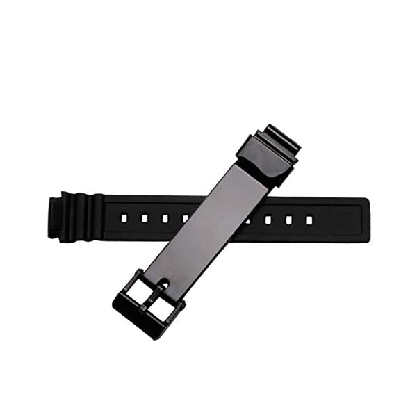 OliBoPo Waterproof Natural Resin Replacement Watch Band for Casio Women's LRW200H