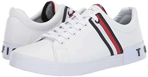 Tommy Hilfiger Men's Ramus Sneaker, White, 9.5