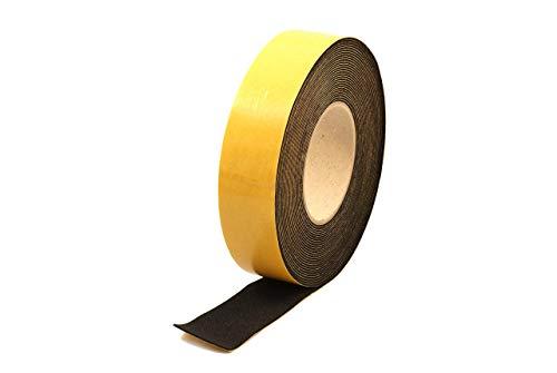 "Neoprene Rubber Black Self-Adhesive Sponge Strip 1 1/2"" Wide x 1/16"" Thick x 33 feet Long"