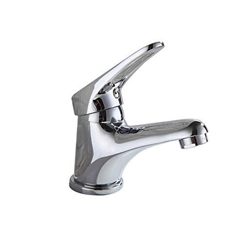 WANNA.ME Mixer White Faucets Home Bad Wasserhahn Becken Mischbatterie Kalt-Warmwasserhähne Messing Chrom Polieren