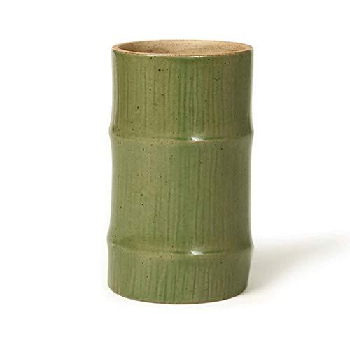 Soporte para bolígrafo de cerámica QWEA, organizador de escritorio, soporte para pinceles de maquillaje, duradero, almacenamiento de escritorio, 1/2/3 piezas, verde, organizador de papelería (