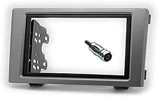 Sound-way Kit Montaggio Autoradio, Mascherina 2 DIN con Staffe di Montaggio, Adattatore Antenna, compatibile con Iveco Daily