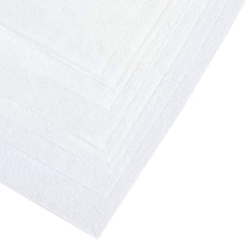 Papstar Passier- und Filtertücher / Seihtücher (10 Stück) 100 x 100 cm, weiß, Polyester, zuschneidbar, Einmalgebrauch, Filterfunktion, zum Passieren von Früchten, Gemüse, Suppen und Saucen #81342